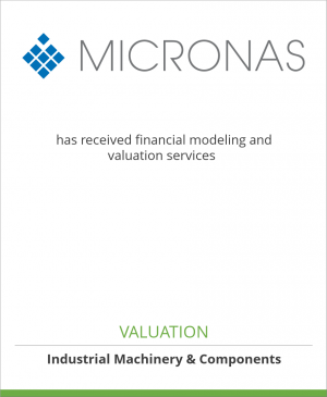 Tombstone image for Micronas Semiconductor Holding has received financial modeling and valuation services