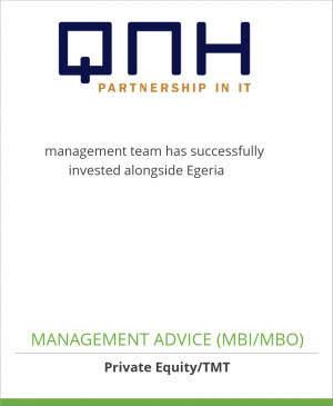 Tombstone image for QNH management team has successfully               invested alongside Egeria