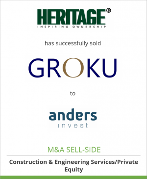Tombstone image for HERITAGE B has successfully sold Groku Kampen B.V. to Anders Invest