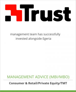 Tombstone image for Trust Holding N.V. management team has successfully               invested alongside Egeria