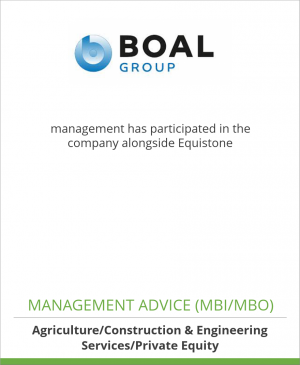 Tombstone image for BOAL Group management has participated in the company alongside Equistone