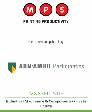 Tombstone image for MPS Group B.V. has been acquired by ABN AMRO Participaties