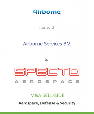 Tombstone image for Airborne International has sold Airborne Services B.V. to SPECTO Aerospace BV