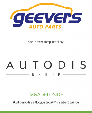 Tombstone image for Geevers Auto Parts has been acquired by Autodis Group