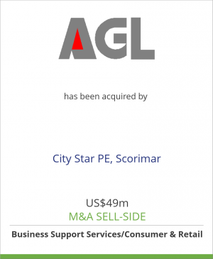 Tombstone image for Groupe AGL has been acquired by City Star PE, Scorimar