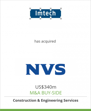 Tombstone image for Imtech N.V. has acquired NVS Installation AB