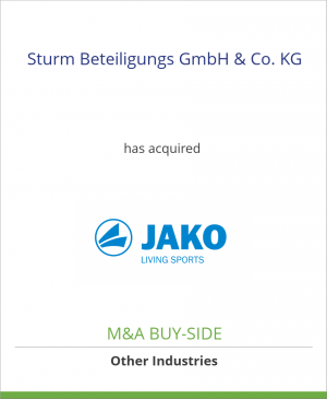 Tombstone image for Sturm Beteiligungs GmbH & Co. KG has acquired JAKO AG