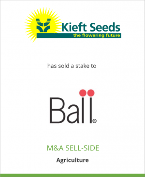 Tombstone image for Kieft Group B.V. has sold a stake to Ball Horticultural Company