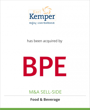 Tombstone image for Karl Kemper GmbH has been acquired by BPE Private Equity GmbH