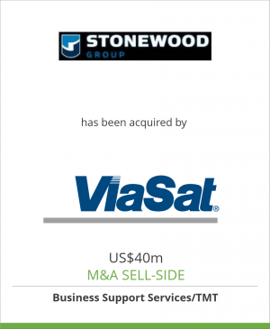 Tombstone image for Stonewood Group Limited has been acquired by ViaSat