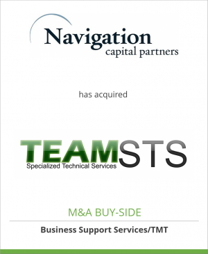 Tombstone image for Navigation Capital Partners Inc. has acquired Specialized Tech. Services, Inc.