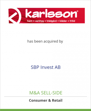 Tombstone image for Karlssons Varuhus AB has been acquired by SBP Invest AB