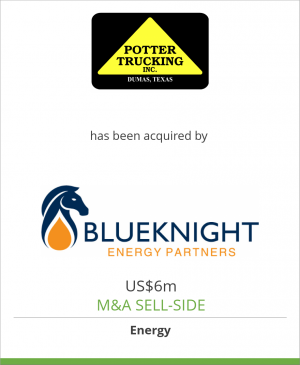 Tombstone image for Potter Trucking, Inc. has been acquired by Blueknight Energy Partners, L.P.