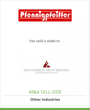 Tombstone image for Pfennigpfeiffer Dako has sold a stake to MTH AG