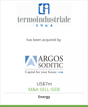 Tombstone image for Termoindustriale Group has been acquired by Argos Soditic