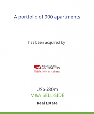 Tombstone image for A portfolio of 900 apartments has been acquired by Deutsche Annington Immobilien