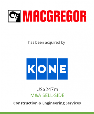 Tombstone image for MacGregor Group has been acquired by KONE Corporation