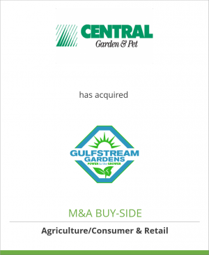 Tombstone image for Central Garden & Pet Company has acquired Gulfstream Home & Garden, Inc.
