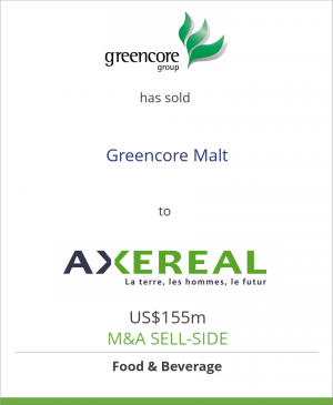 Tombstone image for Greencore Group plc has sold Greencore Malt to Axereal Union de Co-op's Agric.