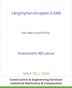Tombstone image for Långshyttan-Gruppen (LSAB) has been acquired by Investment AB Latour