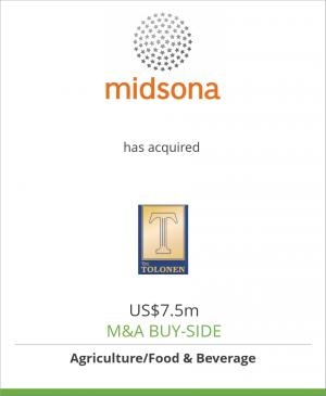 Tombstone image for Midsona AB has acquired Bio-Vita Oy