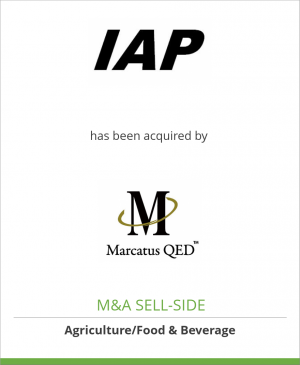 Tombstone image for International Agric. Processing has been acquired by Marcatus QED Inc.