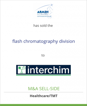 Tombstone image for SARL Armen Instrument has sold the flash chromatography division to Interchim SA