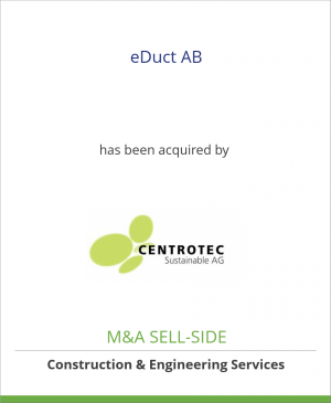 Tombstone image for eDuct AB has been acquired by CENTROTEC Sustainable AG