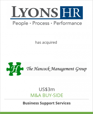 Tombstone image for Lyons HR has acquired The Hancock Management Group