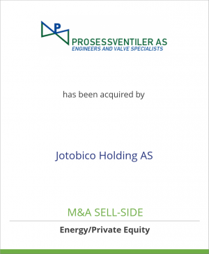 Tombstone image for Prosessventiler AS has been acquired by Jotobico Holding AS