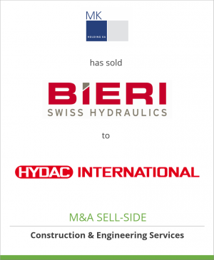Tombstone image for MK Holding SA has sold Bieri Hydraulik AG to HYDAC International GmbH
