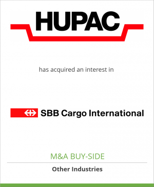 Tombstone image for Hupac SA has acquired an interest in SBB Cargo International