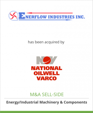 Tombstone image for Enerflow Industries Inc. has been acquired by National Oilwell Varco