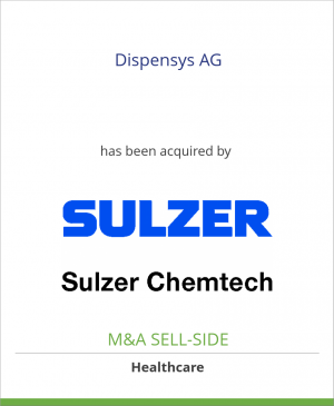 Tombstone image for Dispensys AG has been acquired by Sulzer Mixpac AG