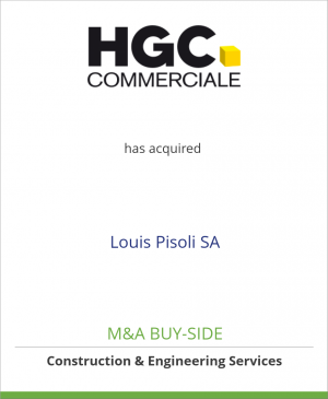 Tombstone image for HG COMMERCIALE has acquired Louis Pisoli SA