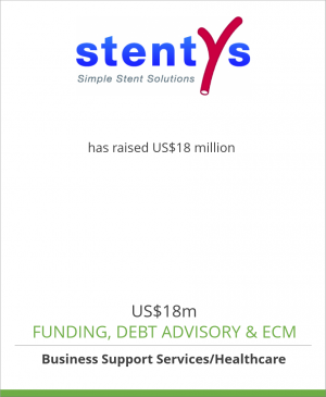 Tombstone image for Stentys has raised US$18 million