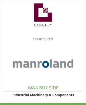 Tombstone image for Langley Holdings has acquired Manroland AG