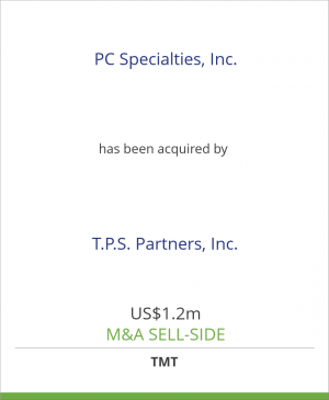 Tombstone image for PC Specialties, Inc. has been acquired by T.P.S. Partners, Inc.