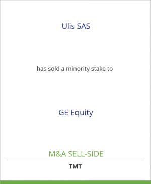 Tombstone image for Ulis SAS has sold a minority stake to GE Equity