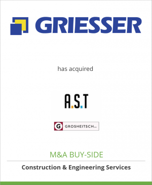 Tombstone image for Griesser Holding AG has acquired A.S.T. Alu-System-Technik GmbH