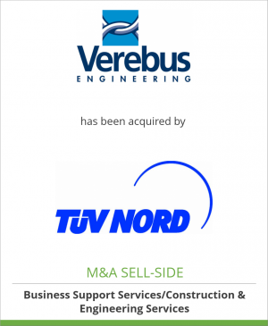 Tombstone image for Verebus Engineering B.V. has been acquired by Tüv Nord