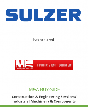 Tombstone image for Sulzer AG has acquired Krøger A/S