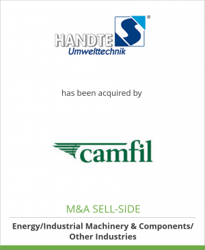 Tombstone image for Handte Umwelttechnik GmbH  has been acquired by a subsidiary of Camfil AB