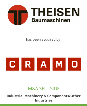 Tombstone image for Theisen Baumschinen AG has been acquired by Cramo Plc.