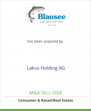 Tombstone image for Blausee AG has been acquired by Lakus Holding AG