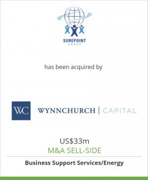 Tombstone image for Surepoint Group has been acquired by Wynnchurch Capital