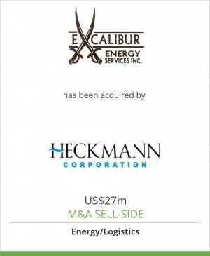 Tombstone image for Excalibur Energy Services LLC has been acquired by Heckmann Corporation